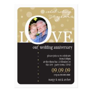 ANNIVERSARY INVITATION :: LOVEbubbles 1 Postcards