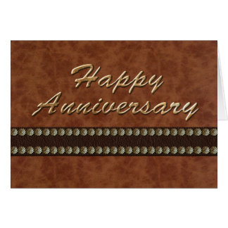 Anniversary - Leather Card