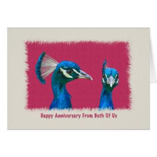 Anniversary, Pair of Peacocks Card