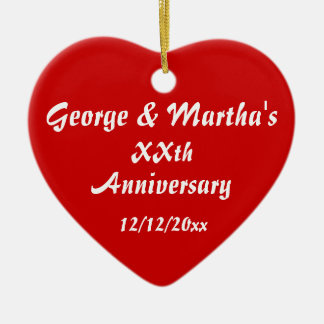 Anniversary Party Favor Ceramic Heart Decoration