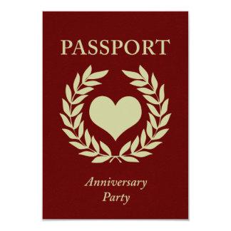 anniversary party passport 9 cm x 13 cm invitation card