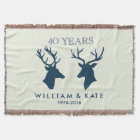 ANNIVERSARY STAG & DEER THROW BLANKET