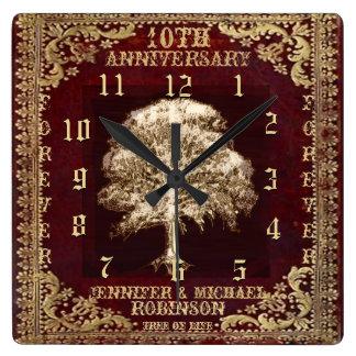 Anniversary Tree of Life Vintage Wallclocks