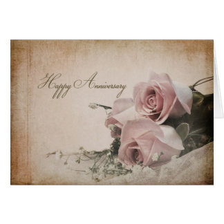 Anniversary - Vintage Roses Card