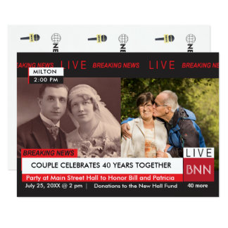 Anniversary Vow Renewal Breaking News TV Graphic Card