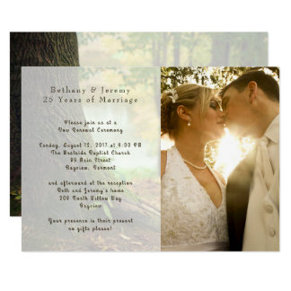 Anniversary Vow Renewal Under the Trees 13 Cm X 18 Cm Invitation Card