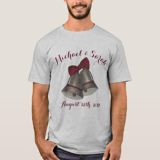 Anniversary Wedding Silver Bells Personalized T-Shirt