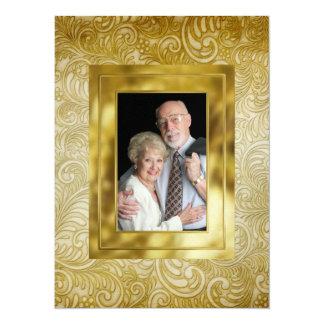 Anniversary / Wedding - SRF 14 Cm X 19 Cm Invitation Card