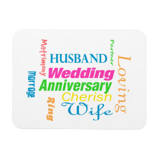 Anniversary Word Cloud 1 Rectangular Photo Magnet