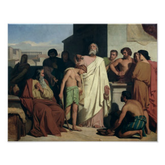 Annointing of David by Saul, 1842 Print