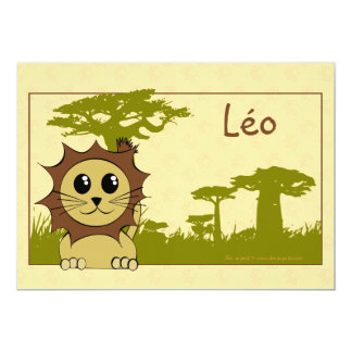 Announcement birth the king of savanna - lion