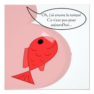 "Announcement of birth ""fish of white April"""