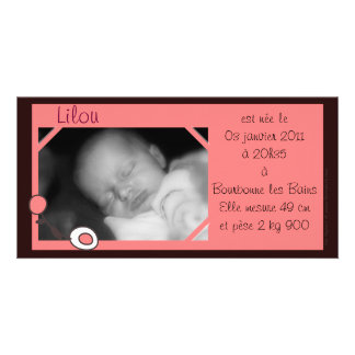 Announcement photo Lilou Customised Photo Card