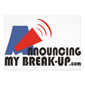 Announcing My Break-up Invitations/Announcements