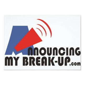 Announcing My Break-up Invitations/Announcements 13 Cm X 18 Cm Invitation Card