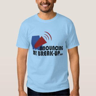 Announcing My Break-up Men's Blue T-Shirt