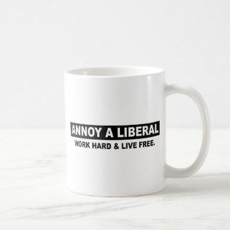 ANNOY A LIBERAL. WORK HARD AND LIVE FREE MUG