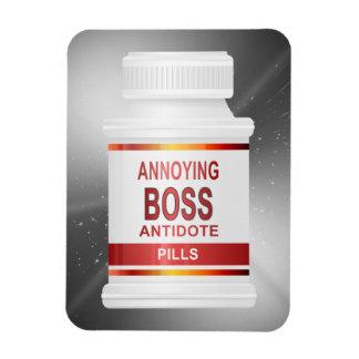 Annoying boss concept. magnet