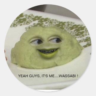 Annoying Wassabi Classic Round Sticker