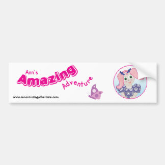 Ann's Amazing Adventure Sticker Bumper Sticker