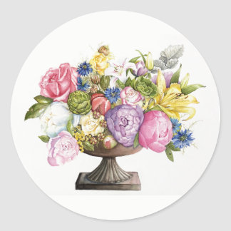 Ann's Arrangement Round Stickers