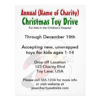 Annual Christmas Toy Drive Santa Claus Charity 21.5 Cm X 28 Cm Flyer