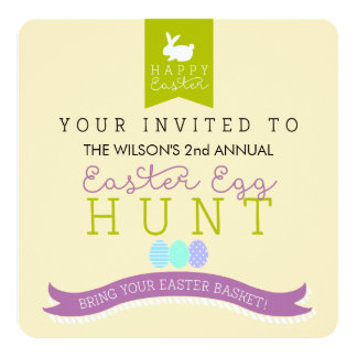 Annual Easter Egg Hunt Invitation