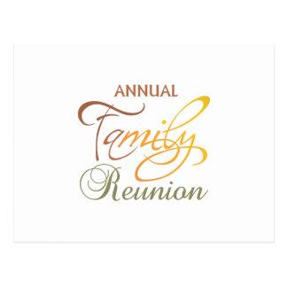 Annual Family Reunion Postcard
