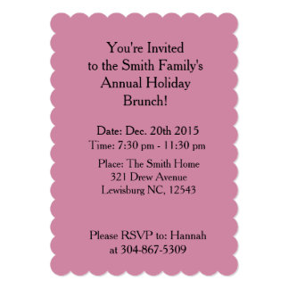Annual Holiday Brunch Invite