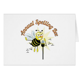 Annual Spelling Bee Card