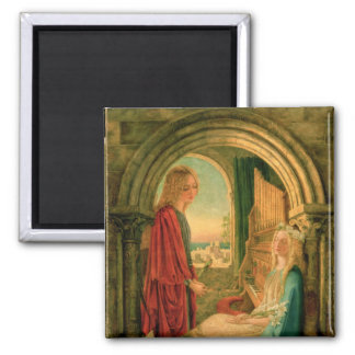 Annunciation, 1859 square magnet