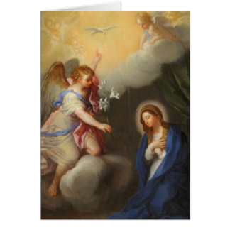 Annunciation Angel Blessed Virgin Mary Card