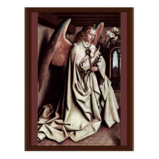 Annunciation Angel By Eyck Hubert Van Postcard