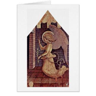 Annunciation Angel Gabriel By Carlo Crivelli Card