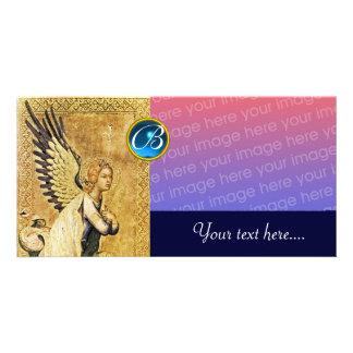 ANNUNCIATION ANGEL MONOGRAM, Blue Sapphire Photo Cards