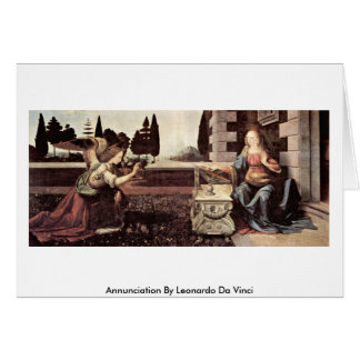Annunciation By Card