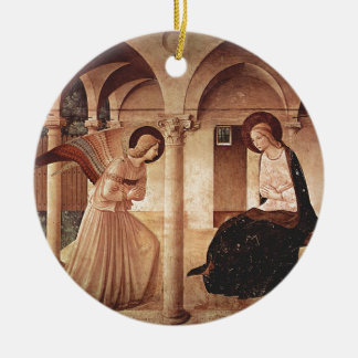 Annunciation (by Fra Angelico) Ceramic Ornament