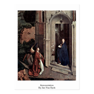 Annunciation By Jan Van Eyck Postcard