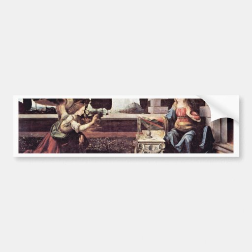 Annunciation By Leonardo Da Vinci Bumper Sticker