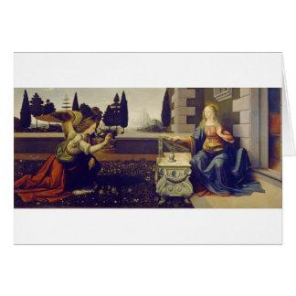 Annunciation by Leonardo Da Vinci Card