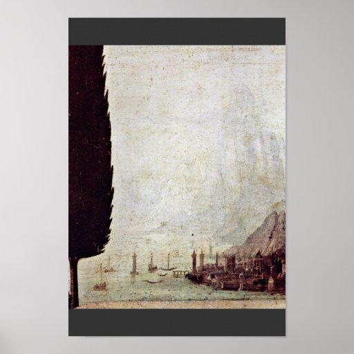 Annunciation  By Leonardo Da Vinci Posters