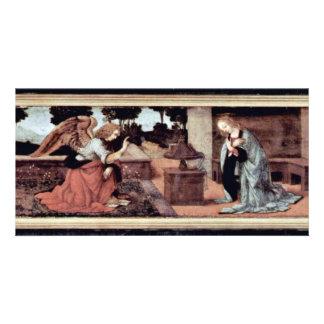 Annunciation By Lorenzo Di Credi O Leonardo Da Vin Personalised Photo Card