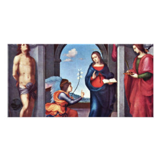 Annunciation By Mariotto Albertinelli (Best Qualit Photo Card Template