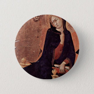 Annunciation  By Martini Simone (Best Quality) 6 Cm Round Badge