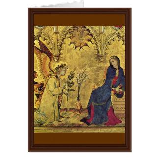 Annunciation Detail By Martini Simone Card