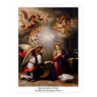 Annunciation Detail By Murillo Esteban Perez Postcard