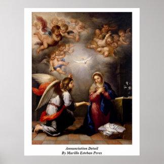 Annunciation Detail By Murillo Esteban Perez Poster