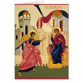 Annunciation Icon Greeting Card