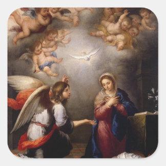 Annunciation of Mary Angel Gabriel Square Sticker