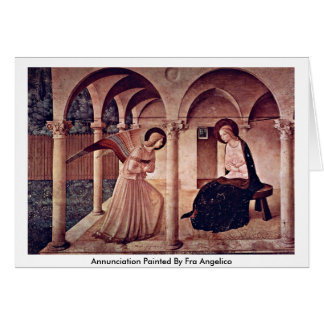 Annunciation Painted By Fra Angelico Card